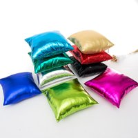 Wholesale red couches resale online - Couch Pillow Case Square FOIL Gold Silver Shining Party Pillow Cushion Cover cm Modern Fashion Home Decorative Sofa EEA179