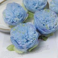 yapay şakayık çiçek başları toptan satış-50 Adet Yapay Çiçekler Ipek Şakayık Çiçek Başkanları Düğün Parti Dekorasyon Malzemeleri Simülasyon Sahte Çiçek Kafa Ev Dekorasyonu Toptan