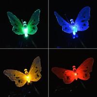iluminação conduzida ao ar livre da borboleta venda por atacado-6.5ft 12 LED Borboleta Movido A Energia Solar Luzes De Fadas Do Globo para o Jardim Ao Ar Livre Decoração de Natal Luzes Do Feriado