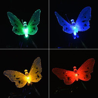 kelebek güneş led bahçe lambaları toptan satış-6.5ft 12 LED Kelebek Açık Bahçe için Güneş Enerjili Küre Peri Işıkları Noel Dekorasyon Tatil Işıkları