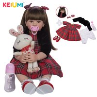 Wholesale reborn baby girl dolls for sale resale online - KEIUMI Inch Reborn Dolls cm Silicone Soft Realistic Princess Girl Baby Doll For Sale Ethnic Doll Kid Birthday Xmas Gifts T200209