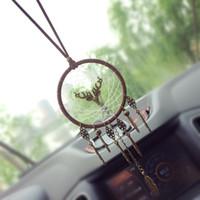 dreamcatcher indisch großhandel-Auto dreamcatcher Anhänger Vintage Indischen Stil manuelle Net Ornament Handgemachte windspiel Wandbehang Kinder Spielzeug Geschenk Wohnkultur AAA883