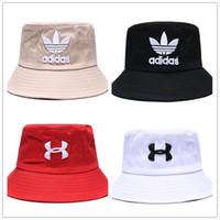 erkek kovası şapka stili toptan satış-Birçok stilleri Moda Marka erkekler kadınlar için kova şapka güneş kap Bowler Kap Geniş Ağız Şapka Katlama Adam casquette Bowler Ca