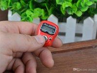 temporizador de funcionamiento al por mayor-$ 1 Haga clic en Temporizador de ejecución tipo de anillo dedo estudiante ejercicio prueba temporizador cronógrafo Buddha contador electrónico digital anillo Temporizador de dedo
