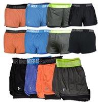 u pantalon achat en gros de-UA Femmes Fitness Pantalons courts Sports d'été Shorts respirants Doublure Yoga Leggings Jogger Pantalon Court GYM Wear S-XL A51102