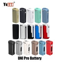 ingrosso vape vv box mod-Autentico Yocan UNI Pro Box Mod 650mAh Batteria Preriscaldamento VV Mod Vape con adattatore magnetico 510 per cartuccia olio spesso Originale