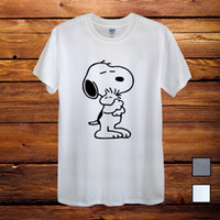 5daa5fc589 Wholesale snoopy gifts for sale - Snoopy Dog Peanuts Charlie Brown Hug T  Shirt Men Unisex