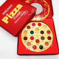 ingrosso palette di arrossire-Più nuovo IMEAGO Pizza Ombretto palette 18 colori trucco Ombretto Condimenti deliziosi Matte bronzer shimmer Palette Blush