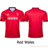 camisola de rugby masculina venda por atacado-Wales Rugby Jerseys WRU 2019 2020 Shirt top new rugby jerseys shirt Wales Wales rugby jerseys red men shirt size S - 3XL