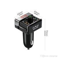 iphone wma großhandel-A7 Dual-USB-Autoladegerät, FM-Sender, Musikwiedergabe mit U-Disk-TF-Karte, Mini-Bluetooth-MP3 / WMA-Musikadapter und -Empfänger