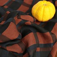 tejido de lino teñido de hilo al por mayor-De gama alta Tencel Hilado teñido Patchwork de lino Tejido Dark Lattice Series Vestido de moda y cheongsam tissu