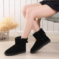 Wholesale boot style plush white for sale - Group buy New Women Snow Boots Australia Style Waterproof Cow Suede Leather Winter Lady Outdoor Boots Brand Ivg Size US3