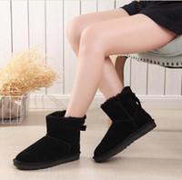 marcas de botas de australia al por mayor-Nuevas botas de nieve para mujer Australia Style Impermeable Cuero de gamuza de vaca Winter Lady Botas al aire libre Marca Ivg Tamaño US3-14