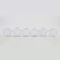 caixas transparentes venda por atacado-360 x 5g Portátil Pequenos Frascos De Plástico Estrela / Flor / Coração Forma Pote Caixa de Maquiagem Cosméticos Recipientes Claro Viajando Creme Jar
