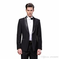 royal blue tuxedos for prom 2021 - Hot Sale Shawl Lapel Wedding Tuxedos Slim Fit Suits For Men Groomsmen Suit Two Pieces Cheap Prom Formal Suits (Jacket+Pants+Tie) 284