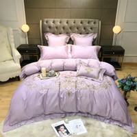 Wholesale oriental bedding sets queen resale online - Oriental Embroidery Egyptian Cotton Bedding set king queen Bed sheetbed linen set Luxury Duvet cover set pillowcase