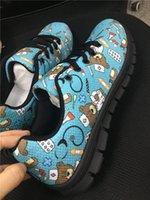 sapatas brancas bonitos do laço venda por atacado-Confortável Enfermeira Sapatos Zapatos Mujer Preto Branco Mulheres Apartamentos Sapatos Princesa Bonito Adolescentes Meninas Sneakers Lace-up