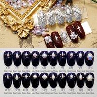 farbe perlen nail art groihandel-New 100pcs Top-Qualität Perlen AB / weiße Farbe Nagelkunstharzperlen Dekorationen Quadrat / Raute / ovale Form fallen / importiert