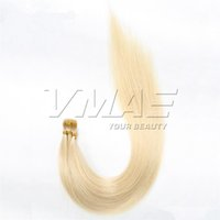 Wholesale light brown fusion hair extensions for sale - Group buy VMAE I Tip European Russian g Strand g Natural Brown Blonde Straight Keratin Fusion Pre Bonded Virgin Human Hair Extensions