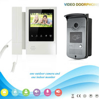 Wholesale video intercom rfid for sale - Group buy SmartYIBA Wired Video Doorphone Inch Color Touch Screen Monitor Video Intercom Doorbell Ring Rfid Inductive Card Unlock IR