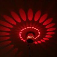 led espiral e27 al por mayor-1 UNID 3W Moderno Minimalista LLEVÓ la Luz de la Pared Espiral Aplique KTV Decoración Ahorro de Energía