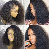ingrosso parrucche indiane vergini di migliore qualità-Migliori parrucche ricci di Wave di qualità dell'acqua per la donna, parrucche anteriori del pizzo dei capelli umani vergini in magazzino