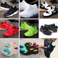 huarache free run al por mayor-2019 Nuevo Huarache Running Shoes Huaraches Rainbow Ultra Breathe Shoes Hombre Mujer Huaraches Multicolor Zapatillas Tamaño 36-46 Envío gratis
