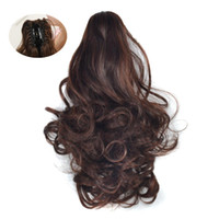 Wholesale kinky clip extensions resale online - Sara Kinky Curly Ponytails Claw Clip in Short Curly Ponytail Hair Extension Hair Pieces Hairpiece Extensions CM Inch