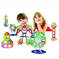 mini brinquedos magnéticos venda por atacado-Mini Magnetic Designer Brinquedos 88 PCS Brinquedos Criativos Para Crianças Aprendizagem Educação Blocos de construção Magnética presentes de natal