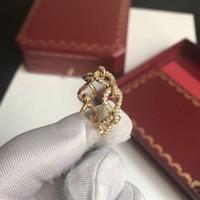 anillo de diamante torcido al por mayor-diseño de lujo de la mujer joyas Twist in 18K anillos de oro amarillo Nuevo modelo 2019 continúa anillos de diamante de la venta preciosos