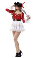 Wholesale women warriors costumes resale online - Shanghai Story Sexy Woman Halloween Pirate Costumes Female Warrior Queen Cosplay Carnival Purim parade Nightclub Bar Role Play dress
