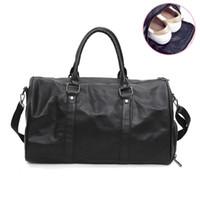 sapatilhas venda por atacado-Masculino Couro PU Viagem Duffle sacos impermeáveis Handbag Sprots Gym Bag da Mulher para o ombro Shoes Grande Capacidade de Fitness Bag