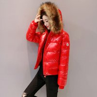 abrigo acolchado rojo al por mayor-2019 Nueva chaqueta de invierno Chaqueta de algodón Abrigo delgado acolchado de algodón para mujer Parkas Ropa de abrigo femenina gruesa Ropa roja negra T190823