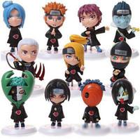 coleção pvc japão venda por atacado-Varejo Naruto Sasuke Uzumaki Kakashi Gaara Ação Com Figuras de montagens funko pop Japão Anime Coleções Presentes Brinquedos