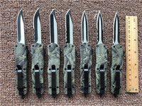 Wholesale wholesale camping tool online - Microtech Small A07 Woodlands Camo inches D A AUTO Tactical knives steel blade Mini size Survival Rescue Knife Outdoor Tools G5S F
