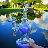 Wholesale heady ball rig for sale - Group buy Heady Glass Unique Bong Ball Perc Heady Glass Bong Showhead Percolator Thick Bongs Oil Dab Rigs mm Female Joint With Bowl Water Pipes