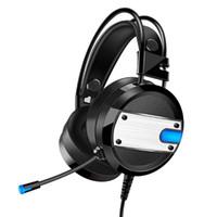 bass-kopfhörer großhandel-Wired Gaming Headset Deep Bass-Spiel Kopfhörer Kopfhörer mit Mikrofon LED-Licht Kopfhörer für PC Laptop-Computer Feature:
