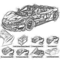 Wholesale building block set cars resale online - 1 to ratio Technic Series McLaren P1 Orange Racing Car Set APP RC Model Building Blocks Power Motor Function Toys