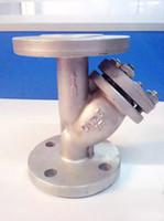 propellerwelle großhandel-DN40Y Filter WCB Kohlenstoffstahl Edelstahlguss Flanschanschluss Rohrleitung Vorfilterventil