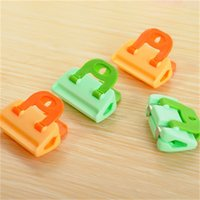 Wholesale food accessories for sale - Group buy Kitchen Accessories Seal Clips Multi Colors Food Sealing Clamps Home Furnishing Articles Snacks Sealer Hot Selling xa L1