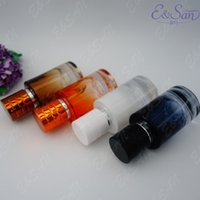 Wholesale colored perfume spray bottles resale online - hot sale Refillable ML New Arrival Colored Spraying Straight Perfume Bottle Glass Empty Spray Bottle