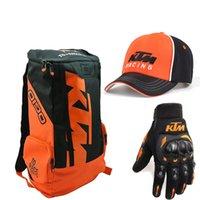 bolsas de motocicleta al por mayor-Casco de la moto bolsa para KTM Moto Mochila hombros portátil Top Hombres Caso equipaje de la motocicleta de motocross casco de bicicleta impermeable bolsa