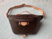 Wholesale brand design wallet resale online - Brand Design Waist Bag Black cowhide Heart waist Bags wallet Women Red waist crossbody bag M43644