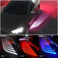 ingrosso ghost ha condotto il proiettore della lampada chiara-LED Car Angel Wings luci porta luce luci moto LED benvenuto SUV 12V 24V bianco rosso blu giallo proiettore lampada Ghost