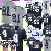 ingrosso maglia 82-21 Ezekiel Elliott 4 Dak Prescott Dallas Cowboys jersey 55 Leighton Vander Esch 82 Jason Witte 19 Amari Cooper Jaylon Smith Football