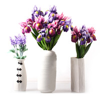 çiçek süslemeleri düğünler toptan satış-Düğün için yapay Çiçekler Yapay Süslemeleri Gerçek Dokunmatik Iris Sahte Çiçekler Ev Dekorasyon Parti Malzemeleri 7A1490