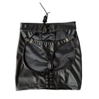 juegos sexo culo al por mayor-Sexy vendada falda de la cadera gran culo moda cuero de la PU sexy restricción dama juego adulto jugar juguetes sexuales