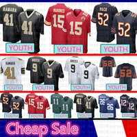 jerseys para niños baratos al por mayor-Juventud barata Chicago Bears Kid 52 Khalil Mack Jersey Santos de Nueva Orleans 9 Drew Brees 41 Alvin Kamara Kansas City 15 jefes Patrick Mahomes