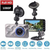 armaturenbrett-camcorder groihandel-HD Auto-DVR 4.0-Zoll-Front 170 Grad hinten 120 Grad 1080p Auto-Armaturenbrett-Camcorder Loop-Recording Parken-Monitor dashcam Video HHA145