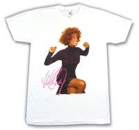 imagens roupa venda por atacado-Whitney Houston Sorriso Pic Foto Imagem Camiseta Branca New Official Merch Roupas Masculinas T-shirt T-shirt Dos Homens Baratos Barato Verão Top Tee